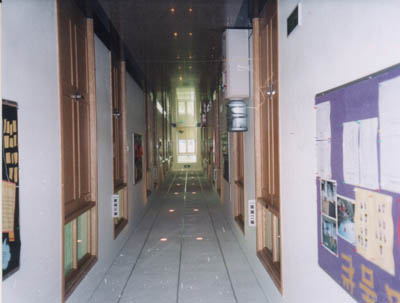Aisle of the students' apartment